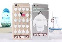 Hot Sale For iphone 5/5s Slim Transparent Ultrathin Cartoon Case Big H ero 6 Hiro Tadasha Hamada Baymax Soft TPU Cover