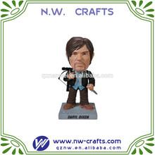 Custom resin walking dead figurine bobble head