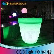 Charming decoration Square Plastic LED light flower pot