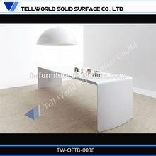 Eco-friendly high gloss half round office desk