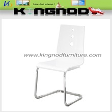 best sell white high gloss bent wooden dining room chair