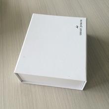 100% Handmade Free Risk Custom Size And Black Logo Magnet Paper Simple Plan White Box