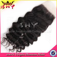 cheap silk invisible part closure malaysian virgin hair silk base closure with baby hair