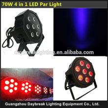 Flat and slim light high brightness 7x10w led par rgbw 4 in one led