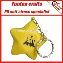 Customize star anti stress ball nice key ring