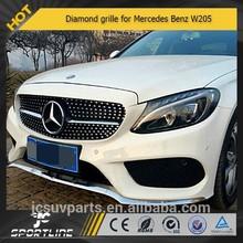 Diamond grille for Mercedes Benz W205 new C class c250 c300 c400 C450 AMG Sport