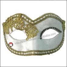 Blanco máscara de recorte del cordón elegante moda de encaje bola de mascarada veneciana del acontecimiento de la fiesta de la máscara de maquillaje