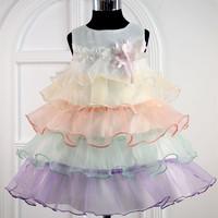 Free shipping fashion summer sleeveless casual korean kids dress