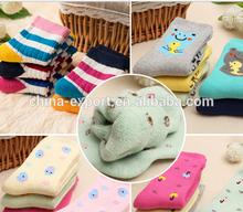 JPB001 New winter thickness 100% Cotton children socks 3-12Year