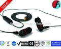 Audiophile dual- conductor& desmontable en la oreja los auriculares de metal- auriculares in-ear compatible con ios, los dispositivos android