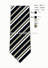 Colored Striped Mans Silk Korean Necktie