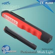 flexible small 6 led clip pen light