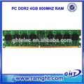 No ecc 240pin ddr2 4 gb 1 unidades 8 bits de memoria para ordenadores