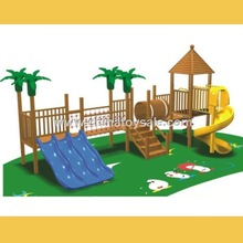 POP Guangzhou safe Wooden Theme commercial outdoor playground playsets