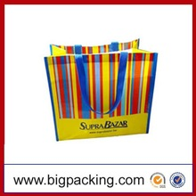 Reusable customized logo pp woven shopping bag China supplier,pp woven tote bags/colorful pp woven shopping bag