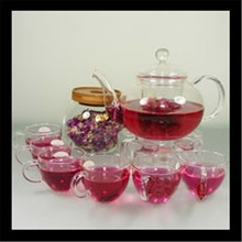 2015 Design high quality delicate glass tea set