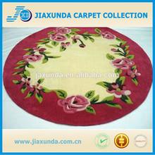 Round design kids room carpet with flower patern