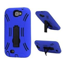 Kickstand Hybrid Silicone Skin + Hard Case for Samsung Galaxy Note 2 / II N7100