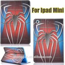 2015 new design pad cases spiderman Ironman captain America cap cases for ipad mini