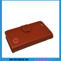 2015 top quality leather cover for iphone 6plus with car slot
