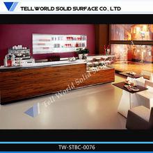 Comtemporary acrylic commercial cofffe shop commercial counter decoration design