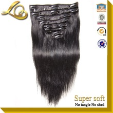 Super Pretty Factory Price Cheap 100% Human Hair Clip In Hair Extensions For White Women