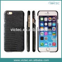 Good crocodile design for iphone 6 leather case