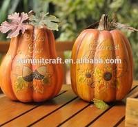 harvest time lettering resin artificial craft pumpkin