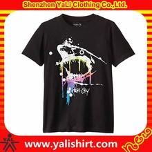 Cheap wholesale bulk comfortable short sleeve watermark printing combed cotton fashion custom logo graphic t shirts
