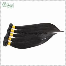 Black silky straight wave Virgin Peruvian Hair extensions