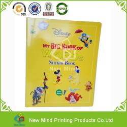 Bespoke design children didactic/enlightment/Preschool/Kindergarten sticker book printing
