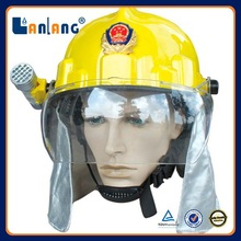 High quality manufacturer plastic safety used firefighter helmet