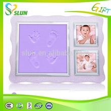 Protección del medio ambiente caliente a base de agua de adhesivo de la huella del bebé marcos