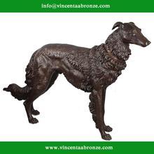Antique bronze sculpture of children and dog