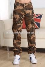 khaki cargo pants new design men's khaki camouflage pants hot selling men's working pants
