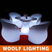 new coming bright colored led table wedding furniture
