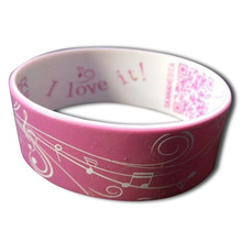 Custom Promotional 1'' wide Wrist Band, Promotional Silicone Bracelet, 1'' wide Silicone Wristband