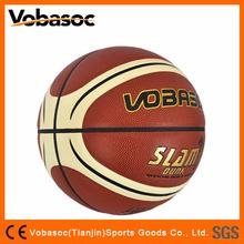 Printed Color Logo Cheapest PU Basketball