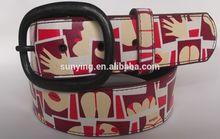 2015 Fashion style DWINDLE Printed pu belt