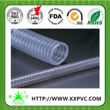 SGS standard steel wire reinforced pressure resistant hdpe pipe for water suction discharge