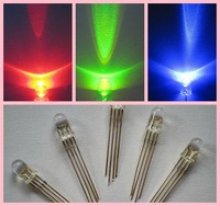 Factory Hot Sale 4-pin rgb led diodes 4.8mm straw hat 5mm 8mm 10mm round ( CE & RoHS Compliant )