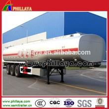 46m3 methanol chemical liquid tank semi trailer/3 axle alcohol tanker trailer