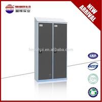 KD structure metal material wardrobe walmart / customized steel wardrobe cabinet