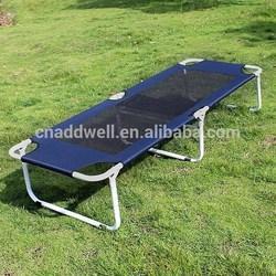 Outdoor portable metal folding beach bed