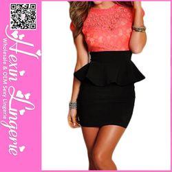 Sleeve pink top woman dress
