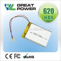 Fashionable promotional lithium polymer battery 3.7v 2250mah