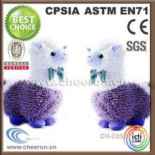 Cartoon toy type stuffed purple sheep
