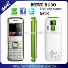 sami mini 5130 mini mobile phone 1.44inch MTK6252 4 frequency dual sim dual standby