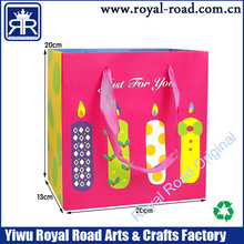 birthday gift bag OEM order accepted by printing and packaging factory