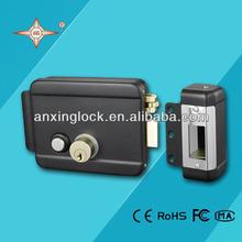 standard electric rim lock with brass bolt , safety lock